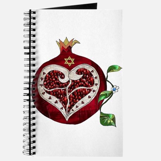 Judaica Pomegranate Heart Journal