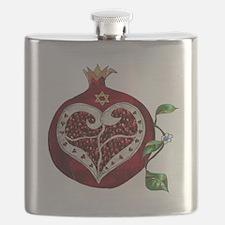 Judaica Pomegranate Heart Flask