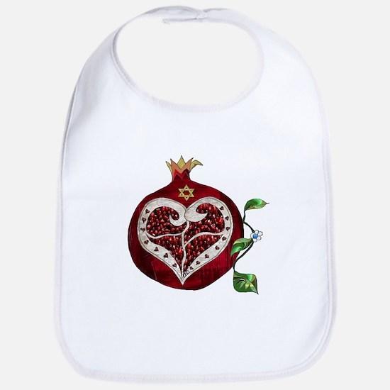 Judaica Pomegranate Heart Bib