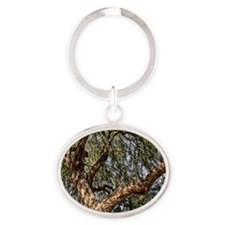mesquite tree Oval Keychain