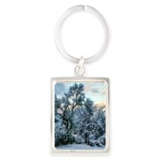 mesquite tree snow Portrait Keychain