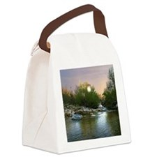 sunset stream Canvas Lunch Bag