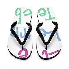 Live Learn Teach Flip Flops