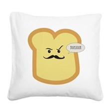 French Toast - Bonjour Square Canvas Pillow
