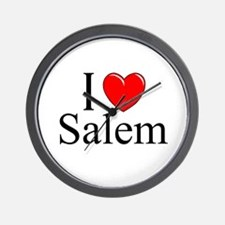"""I Love Salem"" Wall Clock"