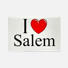 """""""I Love Salem"""" Rectangle Magnet"""