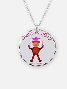 2012 Graduation - Pink Necklace Circle Charm