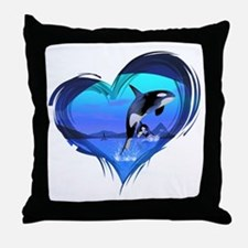 orka3_hell Throw Pillow