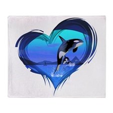 orka3_hell Throw Blanket
