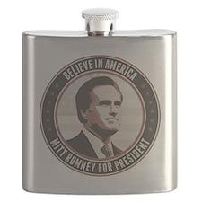 Believe In America Flask