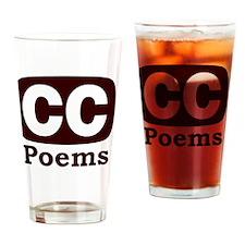 CCPoems -  Logo Drinking Glass