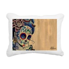 Marie de los Muertos Lap Rectangular Canvas Pillow