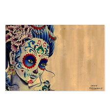 Marie de los Muertos Lapt Postcards (Package of 8)