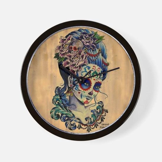 Marie Muertos Cushion cover Wall Clock