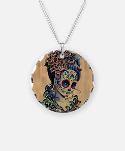 Marie Muertos Cushion cover Necklace