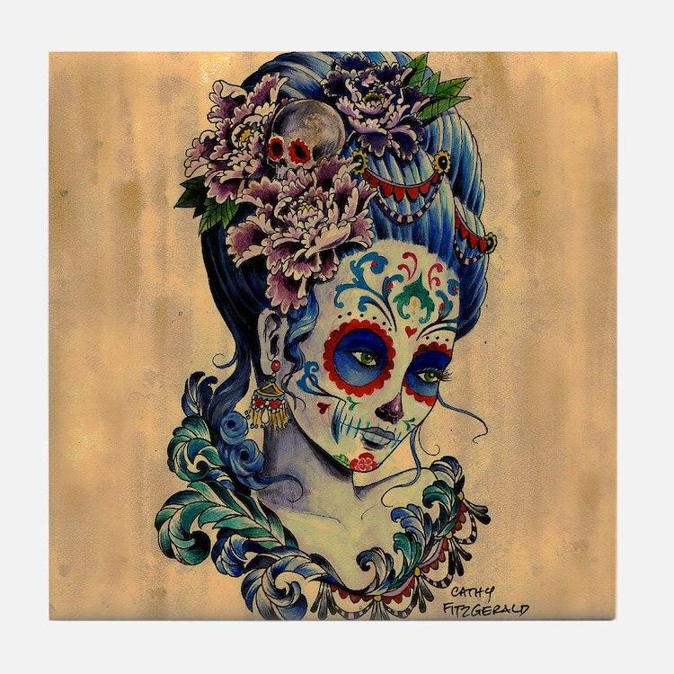Marie Muertos Cushion cover Tile Coaster