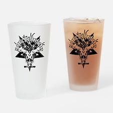Satanic-Motherfucker-2-white-girls- Drinking Glass