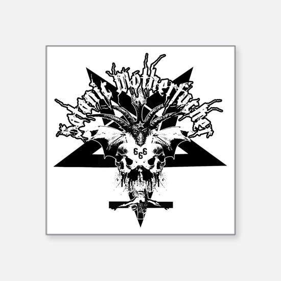 "Satanic-Motherfucker-2-whit Square Sticker 3"" x 3"""