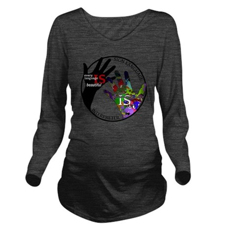 Communication is ART Long Sleeve Maternity T-Shirt