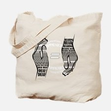 Communication hands BW Tote Bag