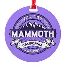 Mammoth Violet Round Ornament