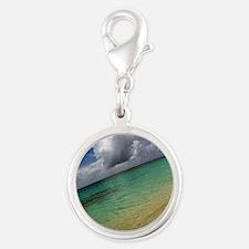 Caribbean Dream Silver Round Charm