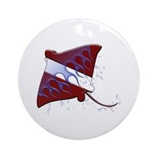 Dive Flag: Ray Ornament (Round)