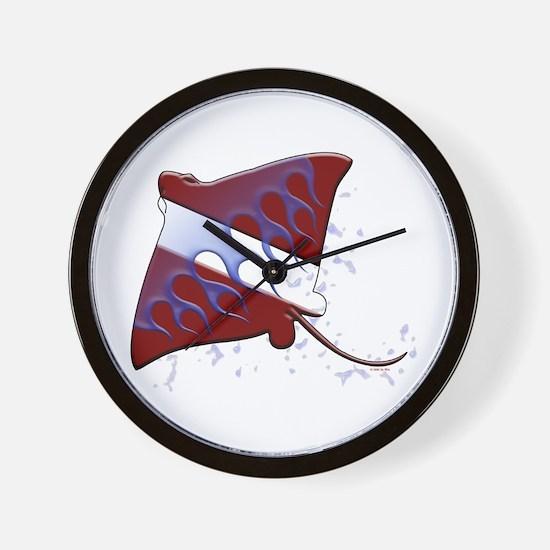 Dive Flag: Ray Wall Clock