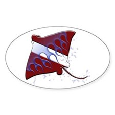 Dive Flag: Ray Oval Decal