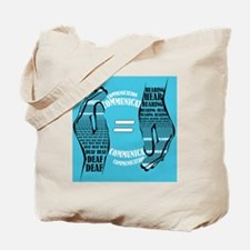 Communication Hands color Tote Bag