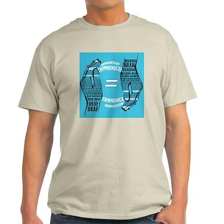 Communication Hands color Light T-Shirt