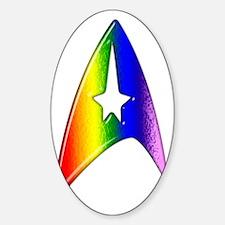 Rainbow Trek Badge Art Decal