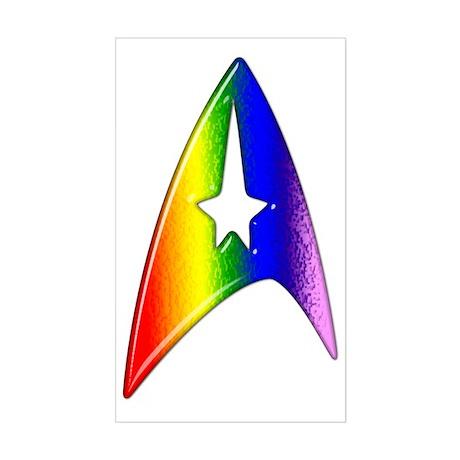 Rainbow Trek Badge Art Sticker (Rectangle)