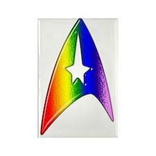 Rainbow Trek Badge Art Rectangle Magnet