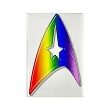 Trek Rainbow Badge Rectangle Magnet