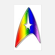 Trek Rainbow Badge Sticker (Rectangle)