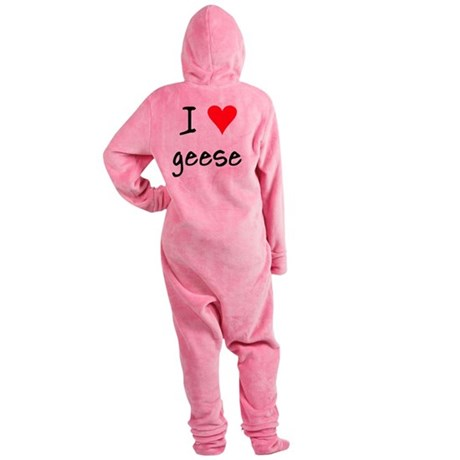 iheartgeese Footed Pajamas