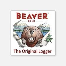 """The Original Logger Square Sticker 3"""" x 3"""""""