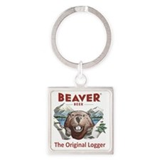 The Original Logger Square Keychain