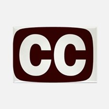 CCPoems - CC Logo Rectangle Magnet