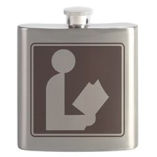 CCPoems -  Library Sign Flask