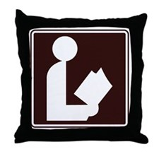 CCPoems -  Library Sign Throw Pillow
