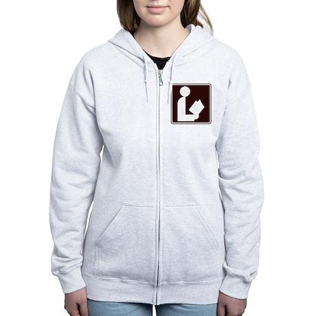 CCPoems - Library Sign Women's Zip Hoodie