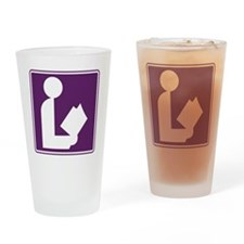 CCProseKids -  Library Sign Drinking Glass