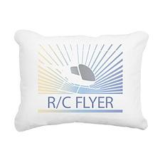 Radio Control Flyer Heli Rectangular Canvas Pillow