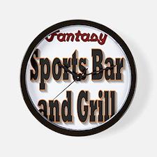 Fantasy Sports Bar Wall Clock
