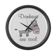Donkeys are Cool Large Wall Clock