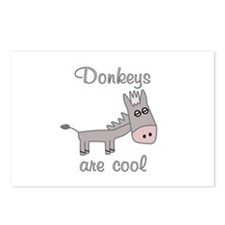 Donkeys are Cool Postcards (Package of 8)