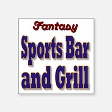 "Fantasy Sports Bar Square Sticker 3"" x 3"""