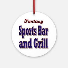 Fantasy Sports Bar Round Ornament